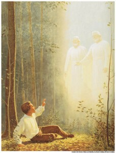 Joseph Smith Sees God the Father and His Son, Jesus Christ mormon