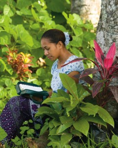 A Polynesian Woman Reading